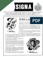 Consigna N1. Octubre 1989. Falanges Juveniles de España. La Coruña.