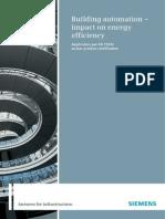 BAU Impact on Energy Efficiency