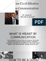 My Presentation on the Seven C's of Effective Business Communication