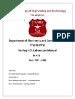 Verilog HDL Lab Manual