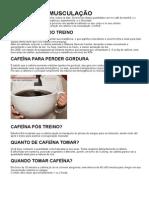 Cafeína Na Musculação