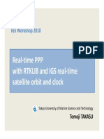0216 Takasu - Real-time PPP With RTKLIB and IGS Real-time Satellite Orbit and Clock (Newcastle 2010)