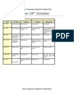 short lesson plan template for weekly plans