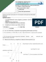 Quinto Evaluacion Matematicas Quimestre 1