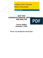 ACCT2542 Corporate Financial Reporting and Analysis S22012 PartA