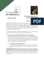 Elección de La Mesa Directiva Del Congreso-p. Robinson.actualizado