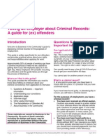 Telling an Employer About Criminal Records Final 2