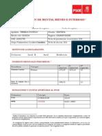 Declaración de rentas, bienes e intereses de Cristina Pereda