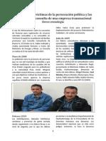 Cronología persecución política a Saúl y Rogelio, en Santa Cruz Barillas