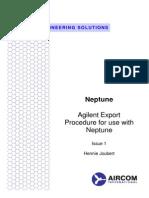 Agilent Export Procedure