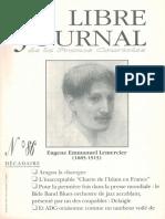 Libre Journal de la France Courtoise N°086