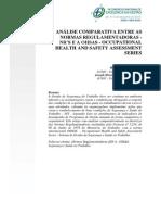 Análise Comparativa Entre as Normas Regulamentadoras- NRs, OHSAS