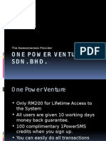 1 Power Venture Marketing Plan