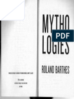 Roland Barthes - Myth Today (selections)