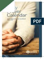 Daily Prayer Calendar and Bible Reading 2014