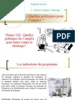 Thème 122 - Les politiques pour l'emploi.ppt