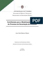 Contribuição para a Modelização Dinâmica do Processo de Decantação de Biodiesel