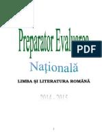 preparator evaluarea nationala 2015