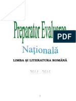 preparator evaluarea nationala 2015