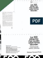 Cavazos Flores, Baltazar; Las 500 Preguntas Sobre Laboral