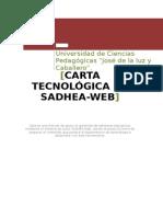 Carta Tecnológica de Sadhea Web