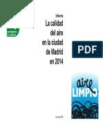 Calidad Aire Madrid 2014