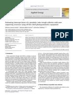 Jorunal article. Parabolic solar trough