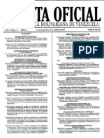 Gaceta Oficial de la República Bolivariana de Venezuela 40465