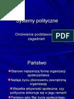 Systemy polityczne I
