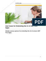 Use Cases for Extending the UI of SAP Fiori Apps