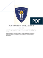 Plan Estratégico de la Escuela Santa Fe
