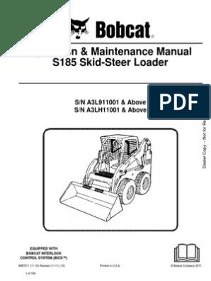 1346351847 Bobcat_S185_Skid_Steer pdf | Loader (Equipment