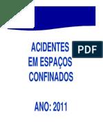 Acidentes Espaço Confinado 2011