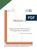 Victor Penchaszadeh- Organizacion Institucional e Investigación en Genética