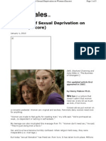 Effect of Sexual Deprivation