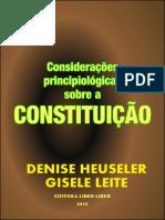 Considerações Principiologicas Sobre Constituicao