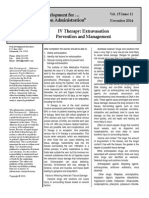 11 2014 IV Therapy - Extravasation Prevention and Management