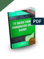 eBook 72 Dicas Para Emagrecer Com Saúde