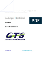 GTS Educational Events - Executive Director