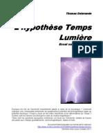 L'hypothèse Temps Lumière, essai sur l'électricité (dernière version)