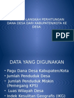 Perhitungan Dana Desa