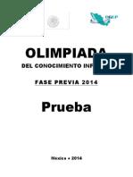 Olimpiada 2014 Fase Previa