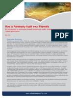 Auditing Firewalls