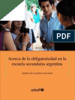 Acerca de la obligatoriedad en la escuela secundaria argentina. Análisis de la política nacional.