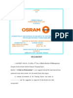 Osram- Ratio Analysis