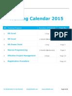 Training Schedule 2015