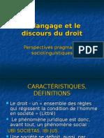 Le Langage Et Le Discours Du Droit