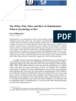 The What, Who, Why and How of Globalization