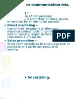01. Promotion or Communication Mix