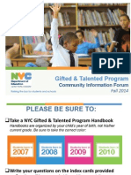 NYC Gifted & Talented Roosevelt Island Community Forum